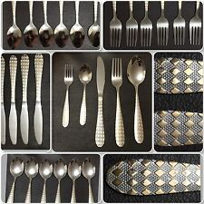 30 Piece Silver Golden Cutlery Set Stainless Steel Polished SLEEK AND STYLISH