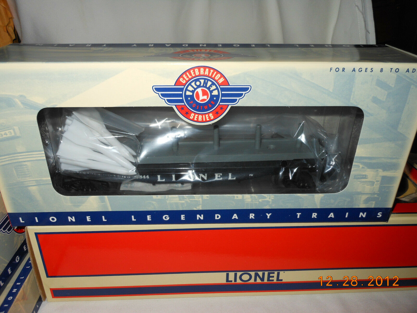 LIONEL  29410 pwc  6844 flatauto with missiles