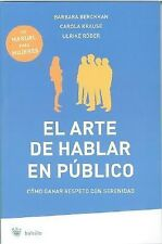 El arte de hablar en publico Public and Professional Speaking (Spanish Edition)