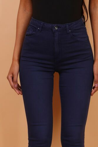 Toxik 3 L185-25 Faded Navy Blue High Waisted Super StretchSizes UK 6 to UK 16