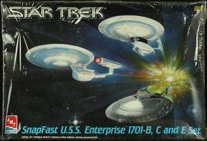 Matériel 1: 2500 Star Trek Snap Fast utilise le kit en plastique 8002 Enterprise 1701-b / c / e