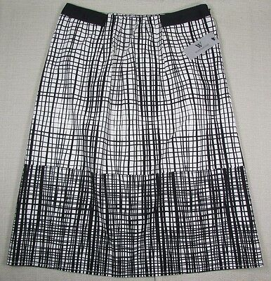 Discounted WORTHINGTON Womens Work Casual Dress Skirt Size 4 White Black NEW NWT