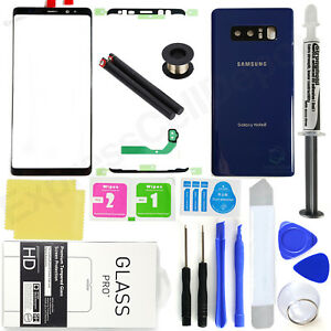for-Samsung-Galaxy-Note-8-N950-Blue-Front-Screen-Glass-Back-Replacement-Kit