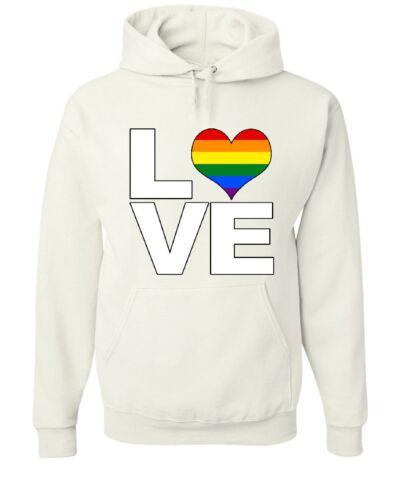 Make Love Gay Pride LGBTQ Rainbow Hoodie  Equal Rights Tolerance