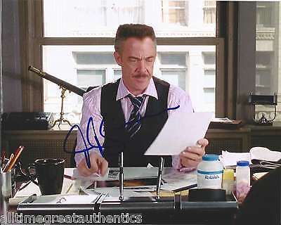 Simmons Signed Authentic Spiderman 8x10 Photo W/coa Whiplash Juno Proof Delicacies Loved By All Movies Collection Here J.k Entertainment Memorabilia