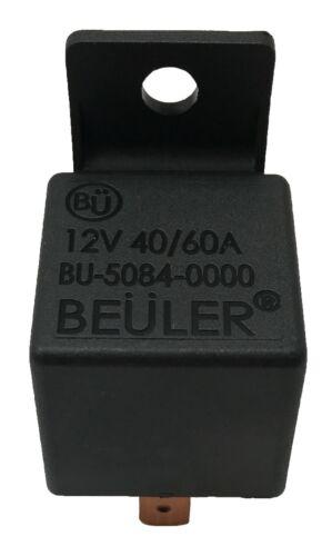 "Beuler 40//60 Amp Waterproof 5-Pin Relay Panel W// 2 2 6/"" Socket Wire Harness"
