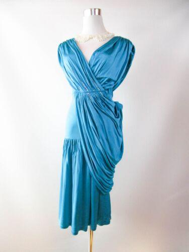Bg89 L embellie partie mariage de Conception Sz soirée 42 ornée femmes robe drapée X0Nk8nwOP