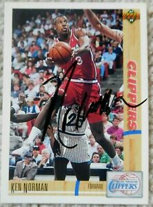 Ken Norman Auto Autographed Signed 91-92 Upper Deck Card Los Angeles Clippers