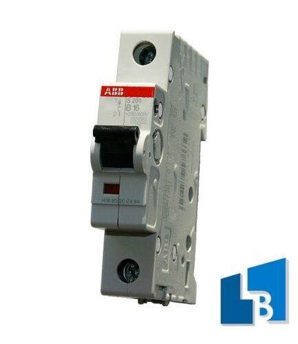 ABB B Automat 1p 16A S201-B16 Sicherungsautomat Leitungsschutzschalter 16A