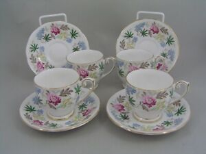 SET-OF-FOUR-QUEEN-ANNE-VERONA-COFFEE-CUPS-AND-SAUCERS