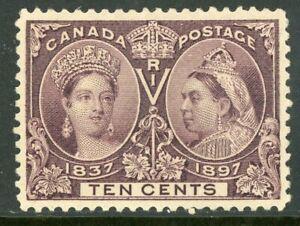 Canada-1897-Jubilee-10-Brown-Violet-Scott-57-GEM-Mint-F54