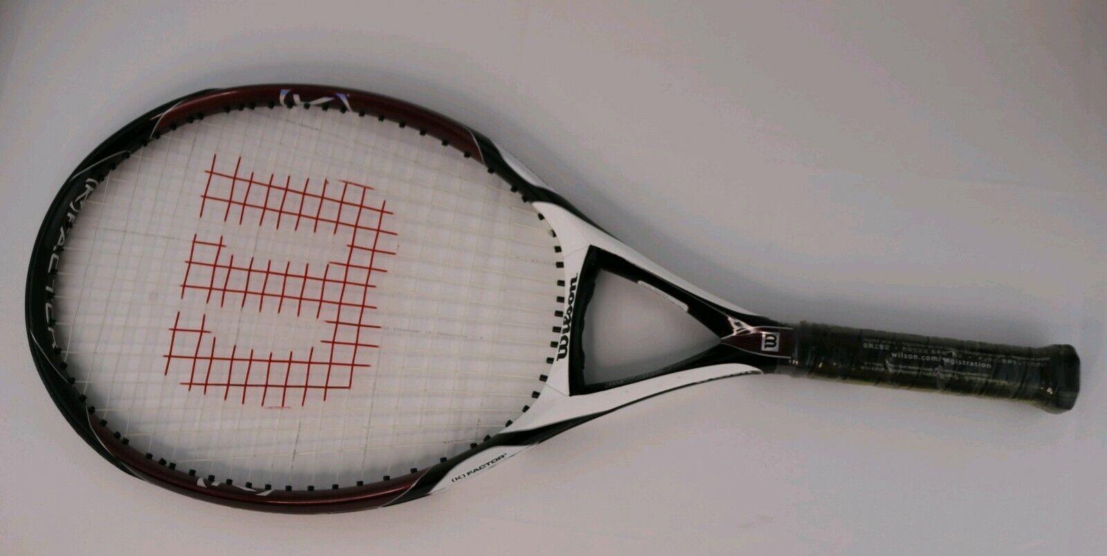 Nueva Marca Wilson K Factor K Zero 118 cabeza de tamaño Raqueta De Tenis Raqueta Agarre 4 1 2