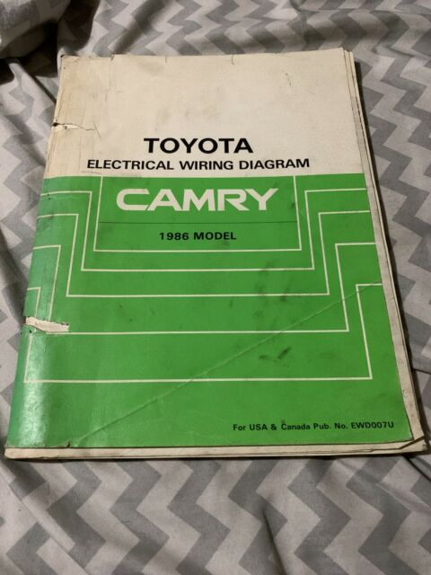1986 Toyota Camry Electrical Wiring Diagram