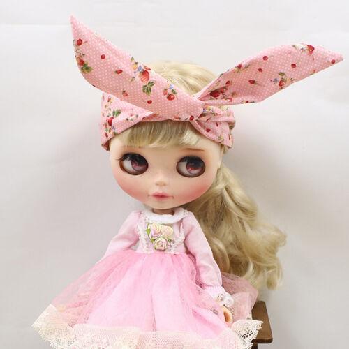 Cute Striped Hair Bands Headband Headdress for Blythe Kurhn Doll Accessories