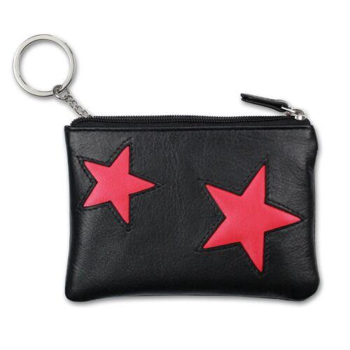 Schlüsseltasche schwarz pink DrachenLeder Geldbörse Etui Brieftasche OPS904P