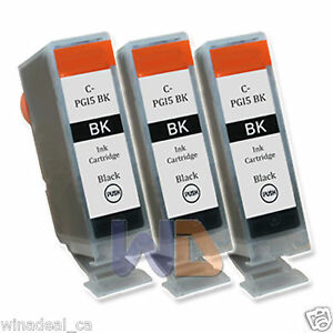 3-Black-PGI-5-Ink-Cartridge-PGI-5BK-PGI5-WITH-NEW-CHIP-for-Canon-MP950-Printer