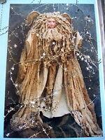 Christmas Angel Craft Pattern 15 Tea Stain Primitive Wood Dowel Doll Greeter