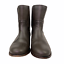 thumbnail 4 - Frye Cara Short Ankle Boot Bootie in Smoke Brown Leather Western Riding Size 9.5
