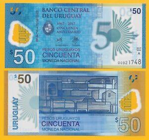 Uruguay-50-Pesos-Uruguayos-p-new-2018-Commemorative-UNC-Polymer-Banknote