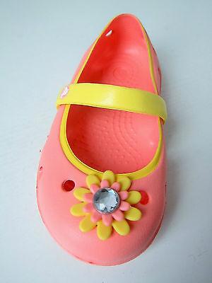 Crocs Ballerina keeley petal kids melone gelb C 8 Gr. 24 25 apricot lachs