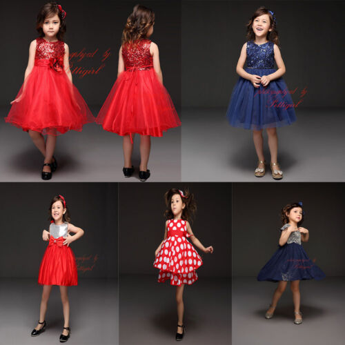 Flower Girl Princess Dress Toddler Baby Wedding Party Tulle Dress Holiday Dress