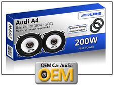 """AUDI A4 PORTA ANTERIORE ALTOPARLANTI ALPINE 13cm 5.25 """"AUTO KIT Altoparlanti 200W MAX"""