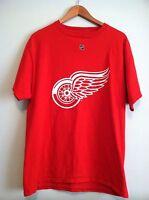 Men's Reebok Detroit Red Wings NHL Hockey #28 Rafalski Red S/S T-Shirt Medium