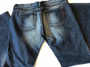Womens-Size-28-L-29-DIESEL-INDUSTRIES-Made-in-Italy-Dark-Wash-Jeans-EUC