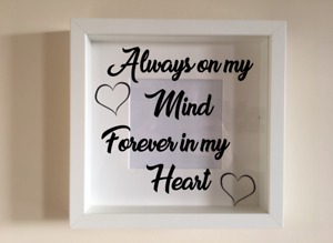 Ikea Ribba Box Frame Personalised Vinyl Wall Art Quote Always On