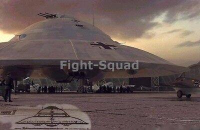 WW2 Picture Photo 2 Nazi UFO over the Wood  2783