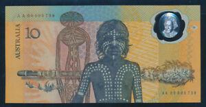 Australia-1988-10-Bicentennial-Polymer-RARE-FIRST-PREFIX-034-AA00-034-UNC-Cat-320