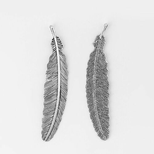 5 pcs Large Pendant Birds Feather Charms for DIY Jewelry Findings 105*22mm