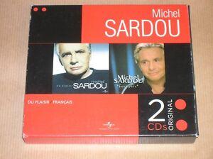 COFFRET-2-CD-RARE-MICHEL-SARDOU-DU-PLAISIR-amp-FRANCAIS-TRES-BON-ETAT