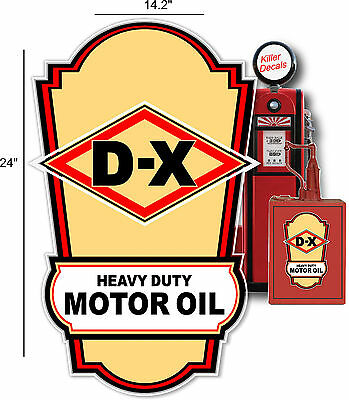"""DX-3 5/"""" SUNRAY DX GASOLINE OIL PUMP AND LUBSTER DECAL"""