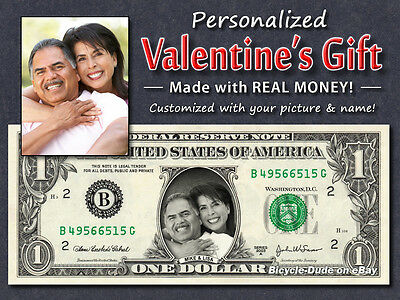 REAL $2 Dollar with Your FACE /& NAME Picture Custom Personalized Cash Money Bill