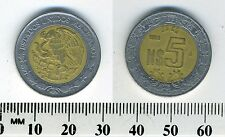 Mexico 1993 - 5 Nuevo Pesos Bi-Metallic Coin - National arms
