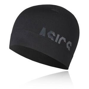 Asics-Unisexe-Logo-Beanie-Noir-Sport-Running-Chaud-Respirant-Reflechissant