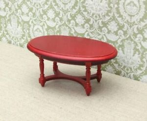 1:12 Dolls House Oval Coffee Table