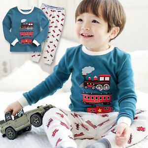 Vaenait-Baby-Toddler-Kids-Boys-Clothes-Sleepwear-Pajama-Set-034-Eco-Train-034-12M-7T