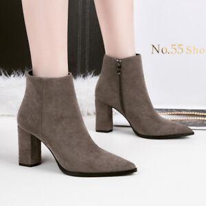 migliori scarpe da ginnastica 64b99 99bcb Dettagli su stivali stivaletti bassi scarpe caviglia marrone 10 cm pelle  sintetica 9671