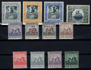 P133373-BRITISH-BARBADOS-1892-1910-MINT-MH-CLASSIC-LOT-CV-280