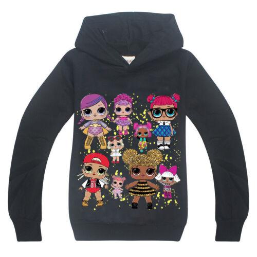 Boys Hoodie Girls Dolls Kids Hoodies Sweatshirt Jumper Pullover Tops