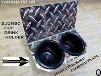 Yamaha Rhino 2 Jumbo Cups Drink Holder Diamond Plate Golf Cart,boat Holds A Yeti