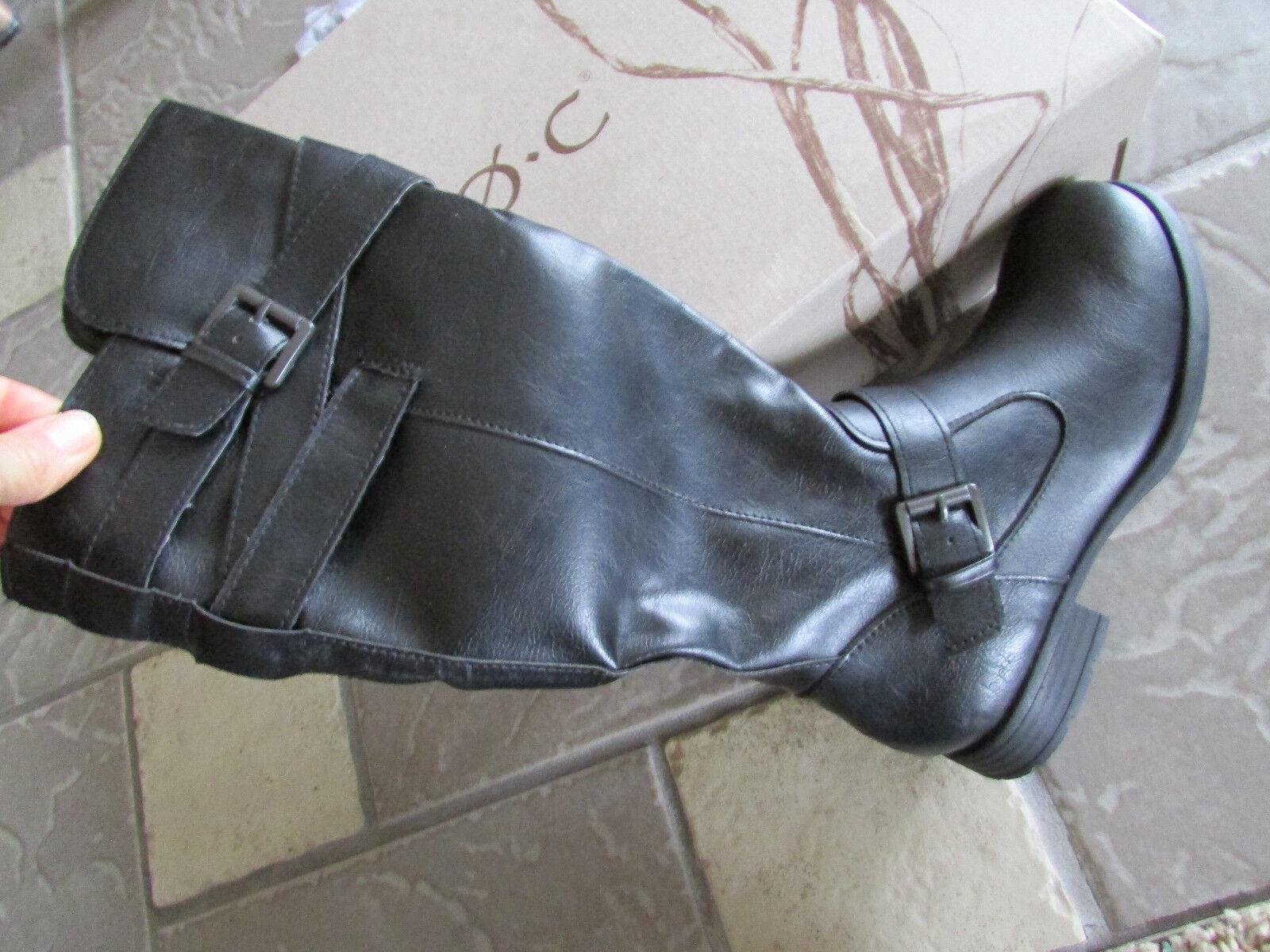 New Born B.O.C. Mays tall bottes cavalières zip côté femme 6 Noir Z02709 bottes hautes