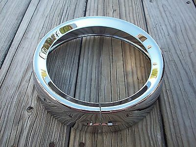 Chrome Frenched Style Headlight Trim Ring for Harley Touring Models 83-2013
