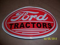 4 X 6 Vintage Ford Tractors (new Vinyl Sticker) (grey, Red And Black)