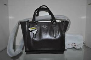 ef5cbfb4c5 Image is loading Coach-Crosby-Mini-Carryall-Purse-Brown-Leather-33537-
