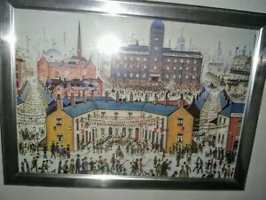 Ls-Lowry-039-Ve-Day-039-Framed-Print-Budget-S-frame