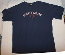 Harley Davidson Motorcycles L T-shirt Mens Blue Biker Motor Cycle HD
