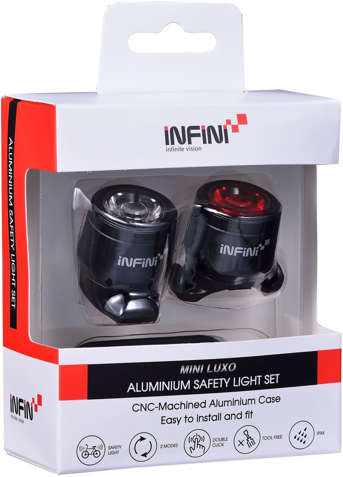 Infini MiniLUXO USB anteriore e posteriore luce SetLeeda